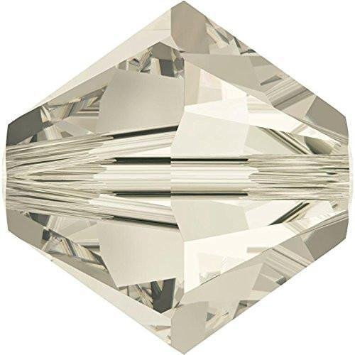 Crystal 12 Shade Silver - 5328 Swarovski Crystal Bicone Beads Crystal Silver Shade | 8mm - Pack of 12 | Small & Wholesale Packs