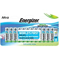 12-Pack Energizer EcoAdvanced AA Batteries