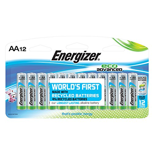 Energizer EcoAdvanced AA Batteries, Energizer's Longest-Lasting Alkaline, 12 Count
