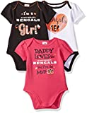 "NFL Cincinnati Bengals Girls ""Daddy Loves"" Bodysuit (3 Pack), 18 Months, Gray"