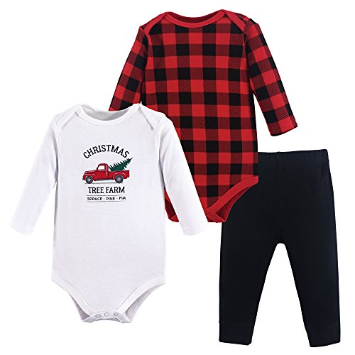 Hudson Baby 2 Bodysuit and Pants Set, Christmas Tree, 12-18 Months