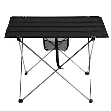TOPINCN Mesa de Picnic Plegable portátil de Tela para Barbacoa de Escritorio, Mesa Plegable compacta para Barbacoa para Camping al Aire Libre Picnic