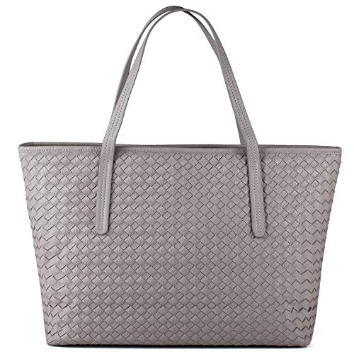 Woven Leather Handbags - 4