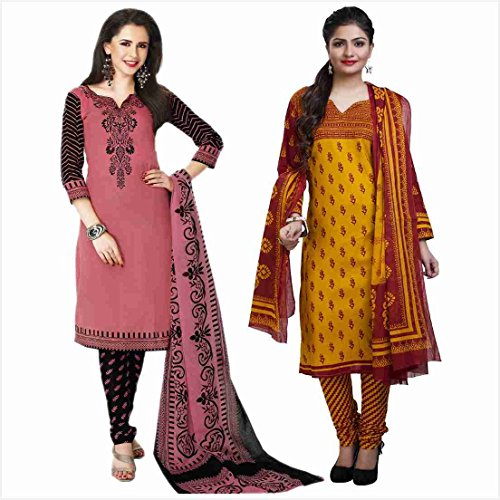 Rajnandini-Womens-Combo-Of-Cotton-Printed-Unstitched-Salwar-Suit-Dress-Material