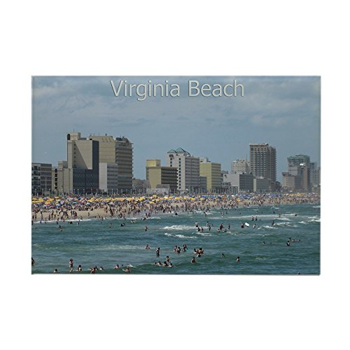 CafePress Virginia Beach - Beachfront Rectangle Magnet Rectangle Magnet, 2