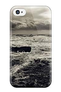 Dixie Delling Meier's Shop 1872275K24286499 Durable Seascape Back Case/cover For Iphone 4/4s