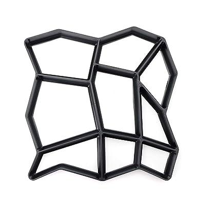 Crewell Garden DIY - Molde de Cemento para Manualidades, plástico, Modelo de pavimento de