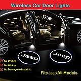 2Pcs for Jeep Car Door Lights Logo Projector, LED Car Door Projector Welcome Lights,Wireless Car Door Led Projector Lights for Jeep All Models: more info