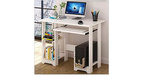 Huaze Desktop Home Computer Desk White Small White Computer Desk with Drawers and Printer Shelves Modern Minimalist Desk Creative Desk Writing Desk