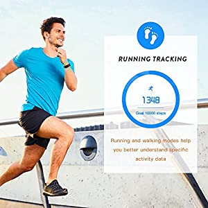 sanwo Fitness Tracker Watch, Sweatproof Smart Band with Sleep Monitoring, Heart Rate Monitor, Blood Pressure and Alarm Clock, Distance Pedometer and Calorie Bracelet for IOS Android