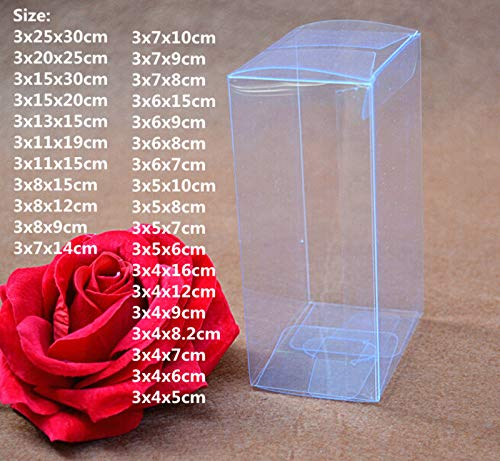 Case Pvc Square - XLPD Transparent Plastic Gift Box Package Square Case Jewelry Candy Chocolate Packing PVC Clear Boxes for Birthday Party Favor 3x7x9cm