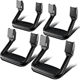 Automotive : 4 Pcs of Aluminum Side Assist Step for Pickups & Trucks (Black)