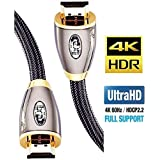 IBRA HDMI Cable 15 ft, High Speed HDMI 2.0 (4K 60Hz,4:4:4 Chroma), 18Gbps, 28AWG Braided HDMI to HDMI Cord, Gold Plated, Ethernet, Audio Return Channel for Fire TV/HDTV/Xbox/PS4/PS3