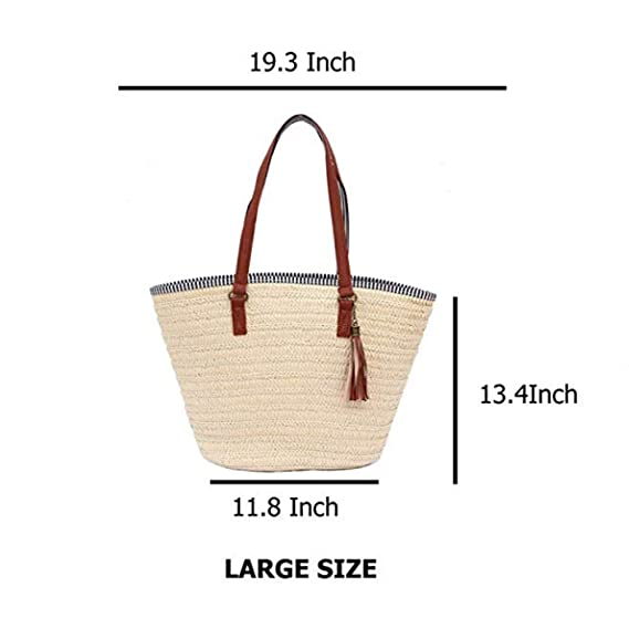 Bolso de bambú,yunt bolso tejido tejido a mano del bolso de la playa bolso de la media luna para las mujeres, bolso trenzado de la paja Bolso de la honda ...