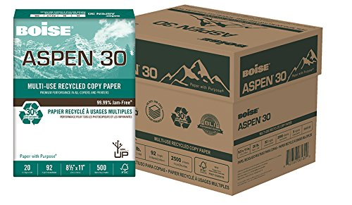 ASPEN 30 MULTI-USE RECYCLED COPY PAPER, 8 1/2