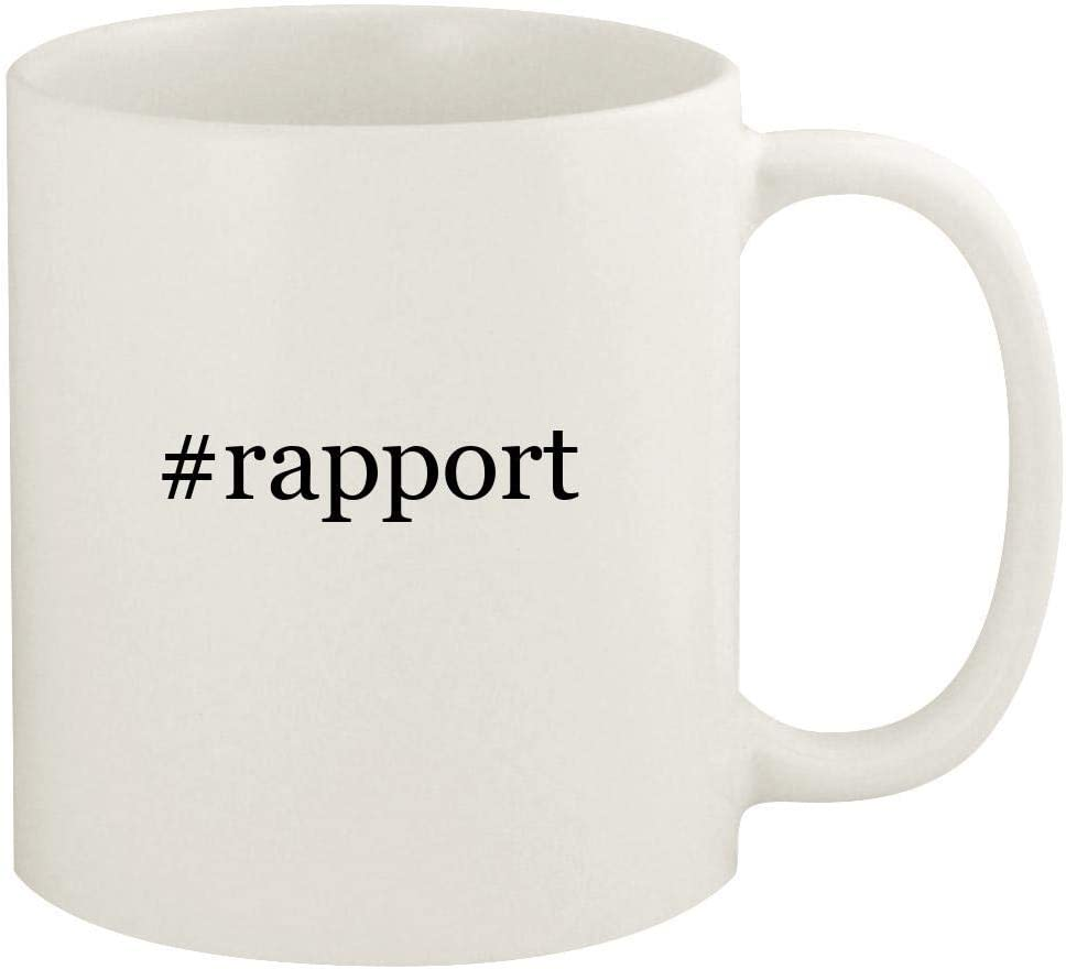 #rapport - 11oz Hashtag Ceramic White Coffee Mug Cup, White