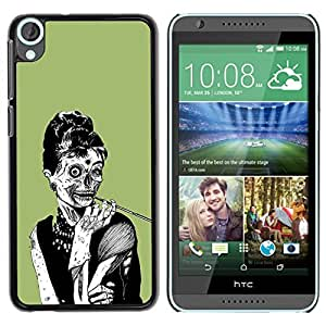 Impact Case Cover with Art Pattern Designs FOR HTC Desire 820 Zombie Woman Chic Skull Art Drawing Smoke Betty shop