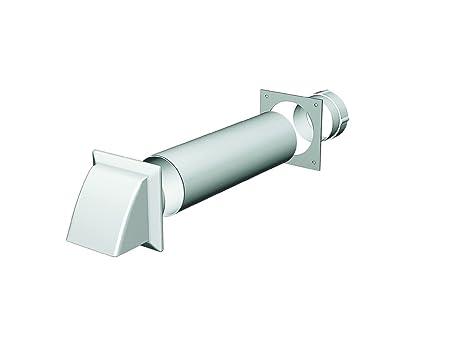 Tumble Dryer Vent kit (White Cowl outlet) - 100mm/4 round through wall kit