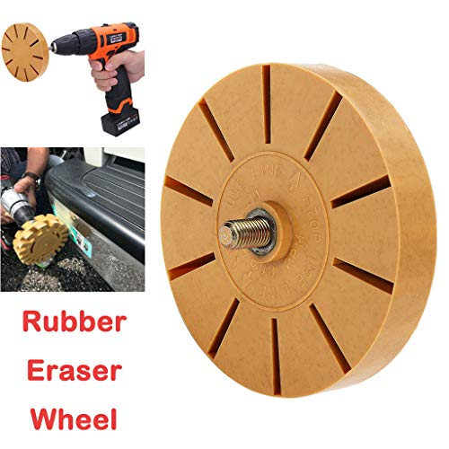Eraser Self Cleaning Rubber - Tharv❤Rubber Eraser Wheel Adhesive Sticker Pinstripe Decal Graphic Remover Yellow