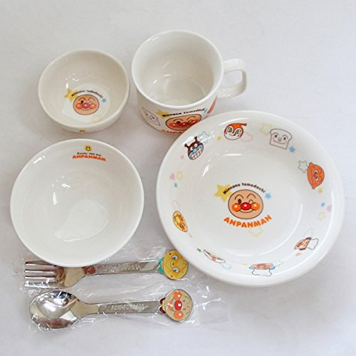 Baby tableware set Anpanman tableware 6 piece set made ??in Japan Gift Set