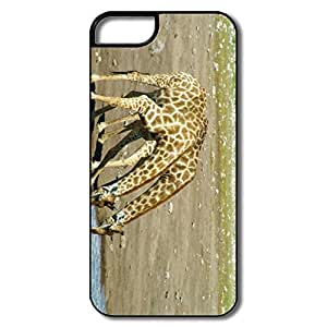 IPhone 5 5S Cases, Giraffe Waterhole White/black Cases For IPhone 5 5S