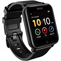 GOQii Smart Vital Fitness SpO2, body temperature and blood pressure smartwatch regular with 3 months personal Coaching…