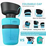 lesotc Pet Water Bottle for Dogs, Dog Water Bottle Foldable, Dog Travel Water Bottle, Dog Water Dispenser, Lightweight & Convenient for Travel BPA Free 18 OZ. 12