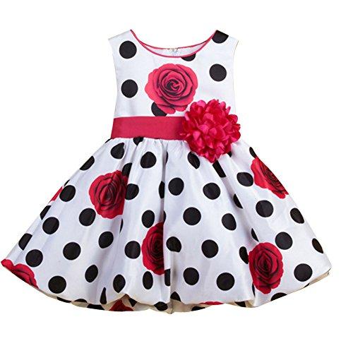del del La cumpleaños de bautismo de bebé las fiesta ZAMME de muchachas la vestido ropa Rose de dBqzAIIW