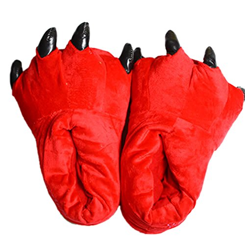 Animal Claw Shoes - Chicone Cute Winter Plush Slippers Soft Warm Unisex Adult Kids Halloween Cosplay Red aeSHPm0JGz