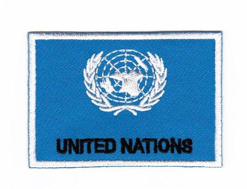 Parche plancha de planchar Iron on patches applikation Bandera United Nations Naciones Unidas Uno Bestellmich.com