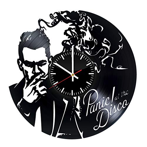 - Panic! at the Disco vinyl clock, vinyl wall clock, vinyl record clock pop rock punk brendon urie wall art home decor kids gift 188 - (c2)