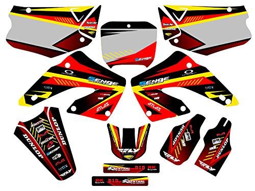 Senge Graphics 2000-2001 Honda CR 125/250 Surge Red Graphics kit