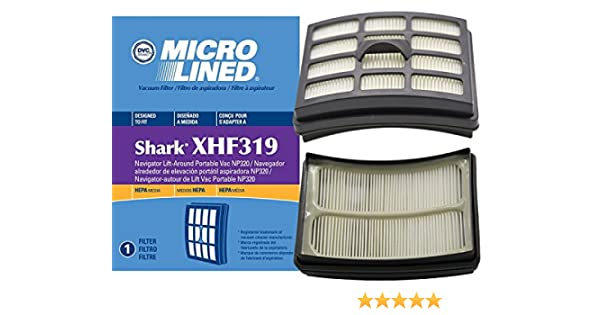 Amazon.com: Shark DVC Microlined HEPA Filter for Navigator Lift-Around Portable Vacuum NP319 and NP320, Part # XHF319: Home & Kitchen