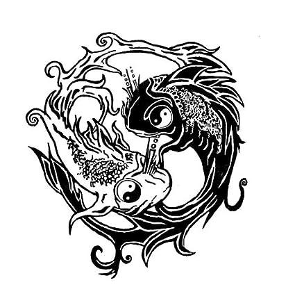 Tribal de ying yang pescado tatuajes, pegatinas de vinilo ...
