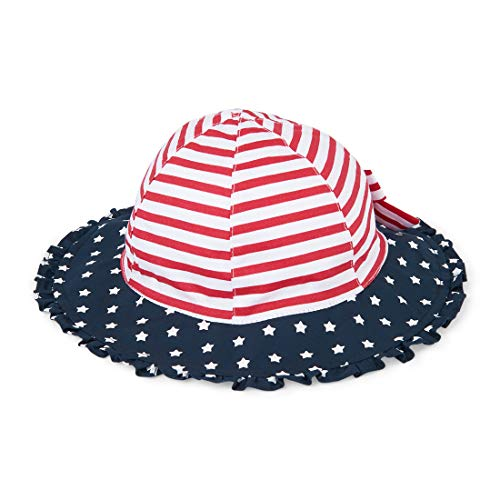 (The Children's Place Baby Girls American Flag Bucket Hat, Tidal, XS/S (6-24M) )