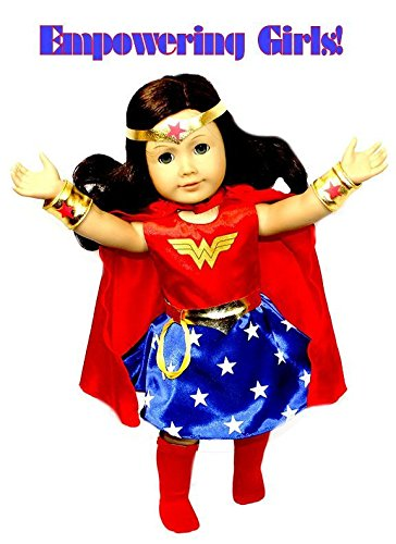 Arianna Empowering Wonder Woman 7 pcs. Doll Costume fits 18 inch American Girl (Original Wonder Woman Halloween Costume)