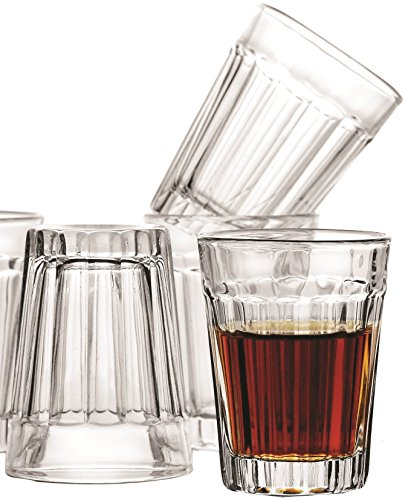 Circleware-Glass-Shot-Glasses-Set-175-Ounce-Set-of-6-Clear-Heavy-Base-Whiskey-Drinking-Glasses-Limited-Skyline-Edition-Glassware-Drinkware-Cups