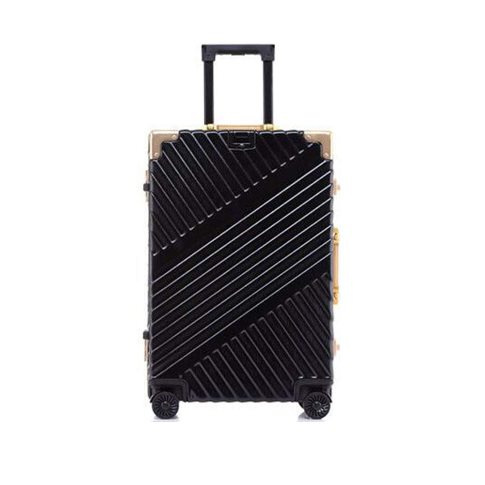 トロリーケース - サイレントユニバーサルホイール - 盗難防止 - ABS素材スーツケース - ウェアラブル防水および耐震性 B07M845893