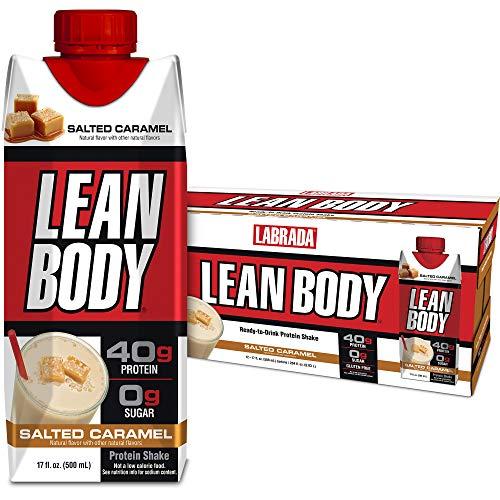 Lean Body Ready-to-Drink Salted Caramel Protein Shake, 40g Protein, Whey Blend, 0 Sugar, Gluten Free, 22 Vitamins…