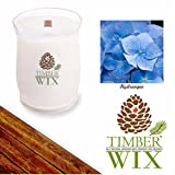 Timber Wix HYDRANGEA Scented Wood Wick Soy Candle (14 oz.) 10-20-30 SALE! Save 10-30% Off when Adding ANY Two or More Country Jar Products to Cart