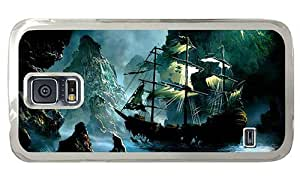 Hipster original Samsung Galaxy S5 Case ghost ship PC Transparent for Samsung S5 by supermalls