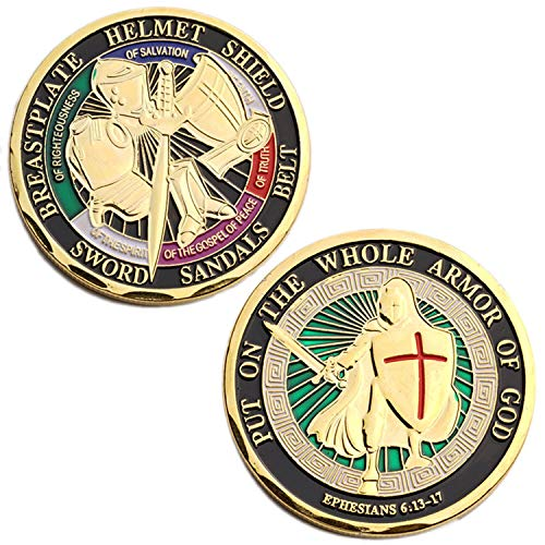 Put ON The Whole Armor of GOD Challenge Coin Collector's Medallion, Jewelry Quality ()