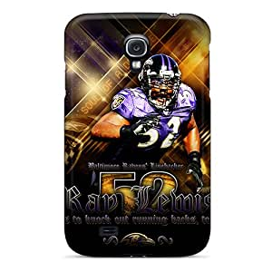 EricHowe Samsung Galaxy S4 Shock Absorption Hard Phone Covers Unique Design Lifelike Baltimore Ravens Pattern [xHo18272oWxt]