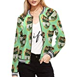 InterestPrint Cute Watermelons with Sunglasses Women's Stylish Slim Fit Zip-up Jacket S