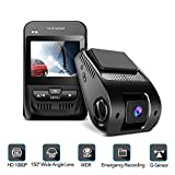 1080P Car Camera - 2.3'' LCD Screen FHD Car Dash Cam with Sony Image Sensor, Super HD Night Vision Car DVR, 150 Degree Wide-Angle WDR Lens, HDR, G-Sensor, Loop Recording, Novatek NT96655 Chip.