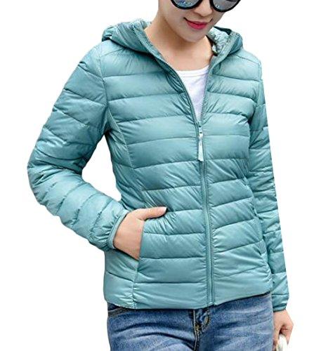 Women's S M Down Packable Winter Puffer amp;W Hooded amp;S Outwear Light 2 wOrEPnwq