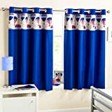 Just Contempo Kids Balloon Thermal Eyelet Curtains, Blue, 66 x 72-Inch
