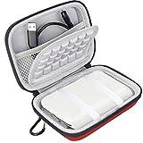 BOVKE Hard Eva Shockproof Carrying Case Travel Bag for Polaroid Zip Mobile Printer, Red