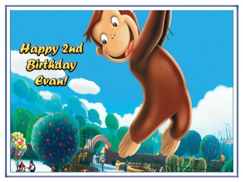Single Source Party Supply - Curious George Edible Icing Image #5-10.5 x 16.5 by Single Source Party Supplies