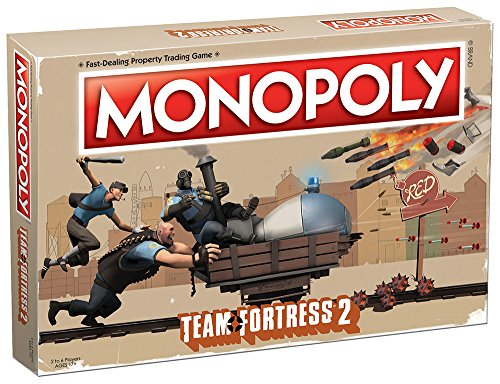 A Team Board Game - USAOPOLY Monopoly Team Fortress 2 Board Game | Based on Team Fortress 2 Video Game | Officially Licensed Team Fortress 2 Merchandise | Themed Classic Monopoly Game